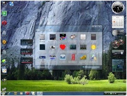 Гаджеты для боковой панели Windows 7