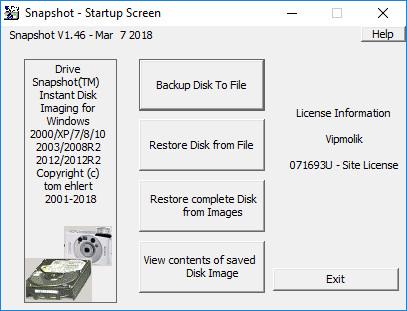 Drive SnapShot 1.46.0.18183